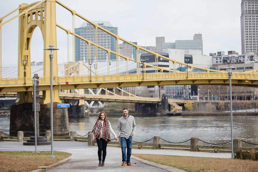 Fall Engagement Session on the North Shore in Pittsburgh