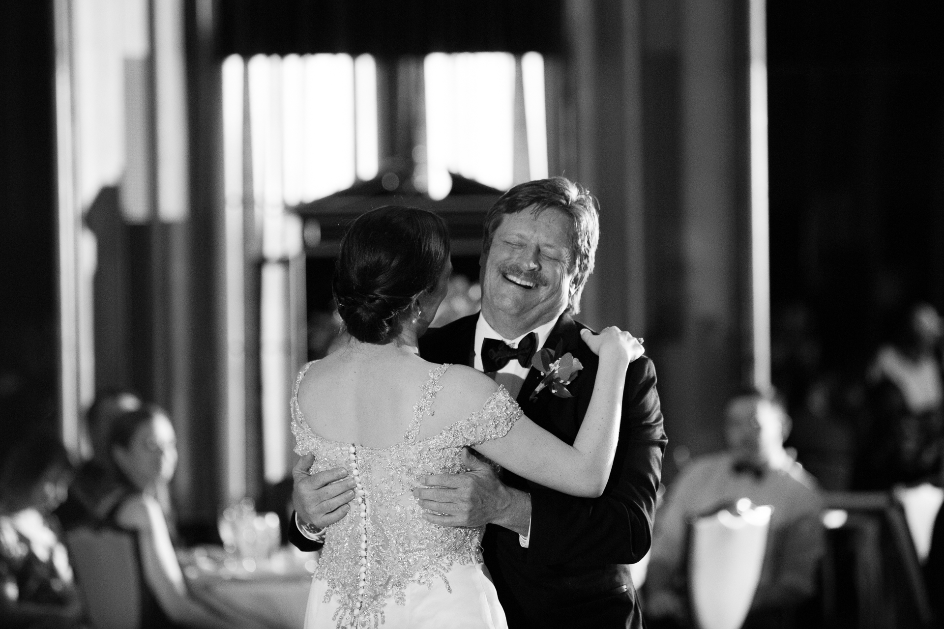 Bride dancing with her father at Omni William Penn Pittsburgh