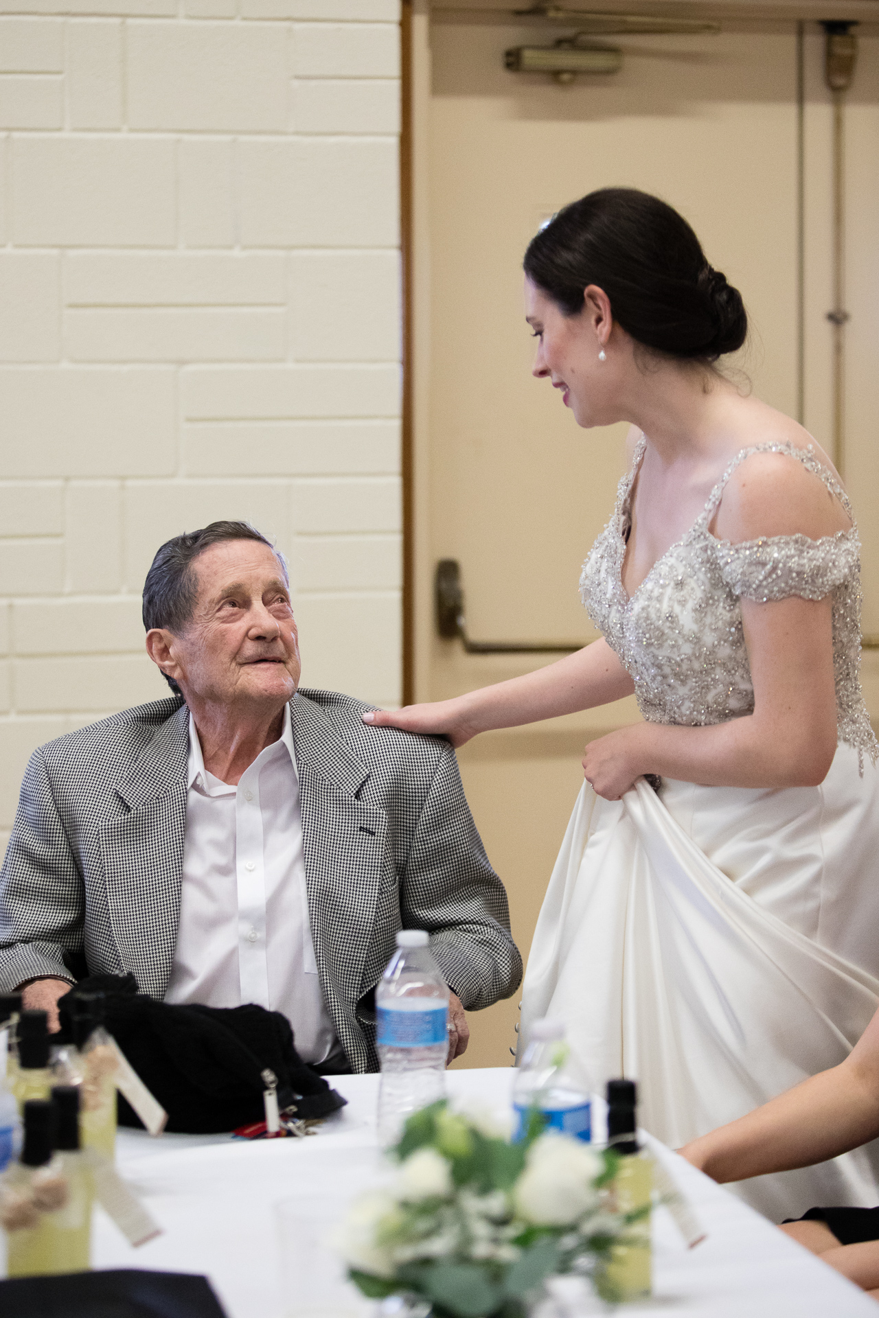 Bride with her grandfather