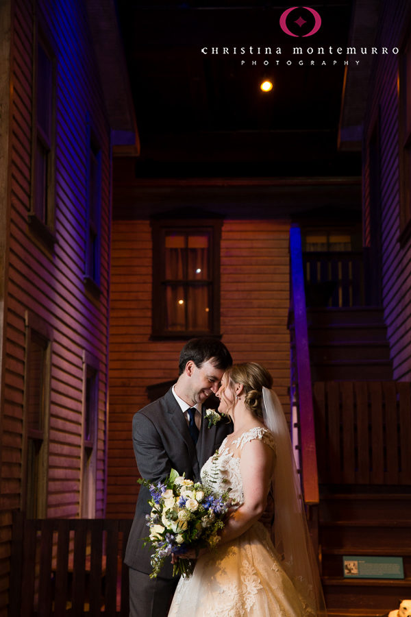 Bride and Groom Portrait at Heinz History Center Pittsburgh Wedding