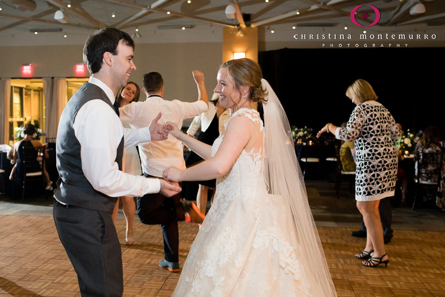 Bride and Groom Dancing at Heinz History Center Pittsburgh Wedding