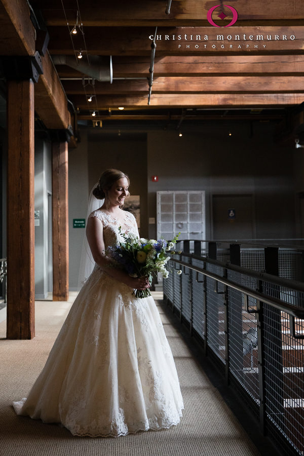 Bridal Portrait outside Library at Heinz History Center
