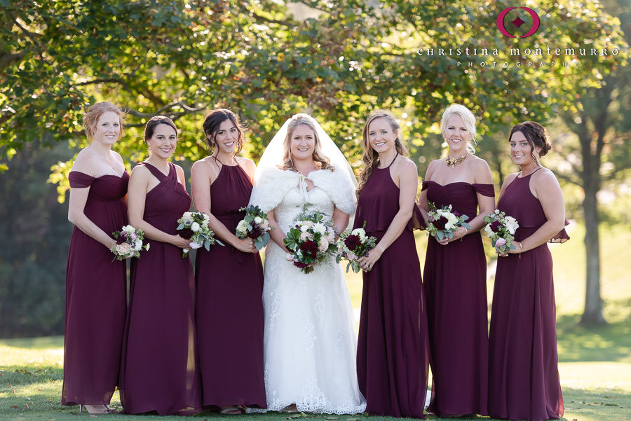 Bride and Bridesmaids at Shannopin Country Club