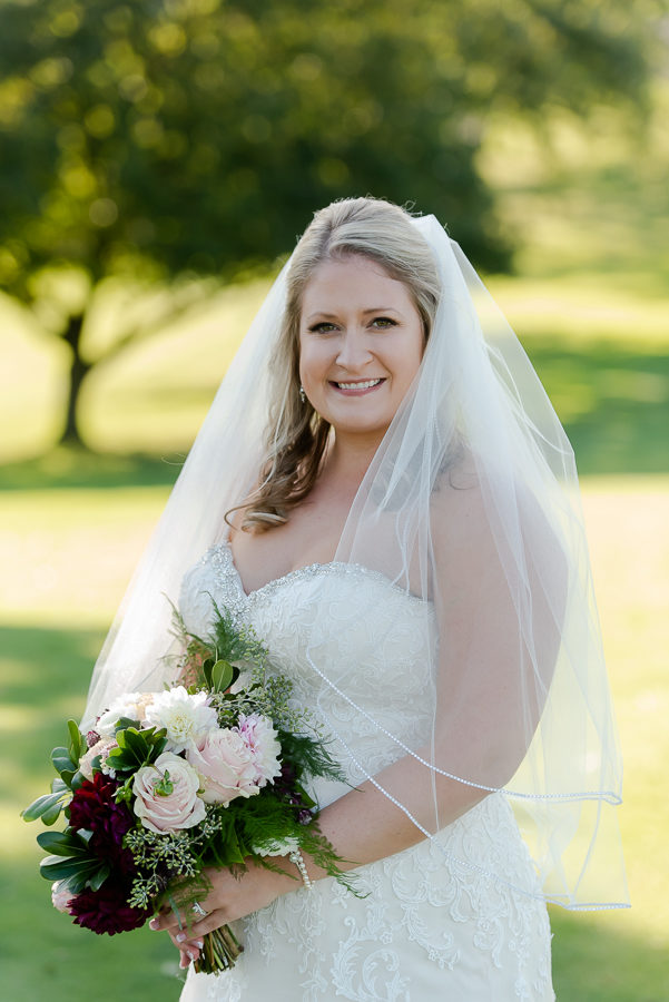 Bride at Shannopin Country Club with Bouquet by Fox and the Fleur