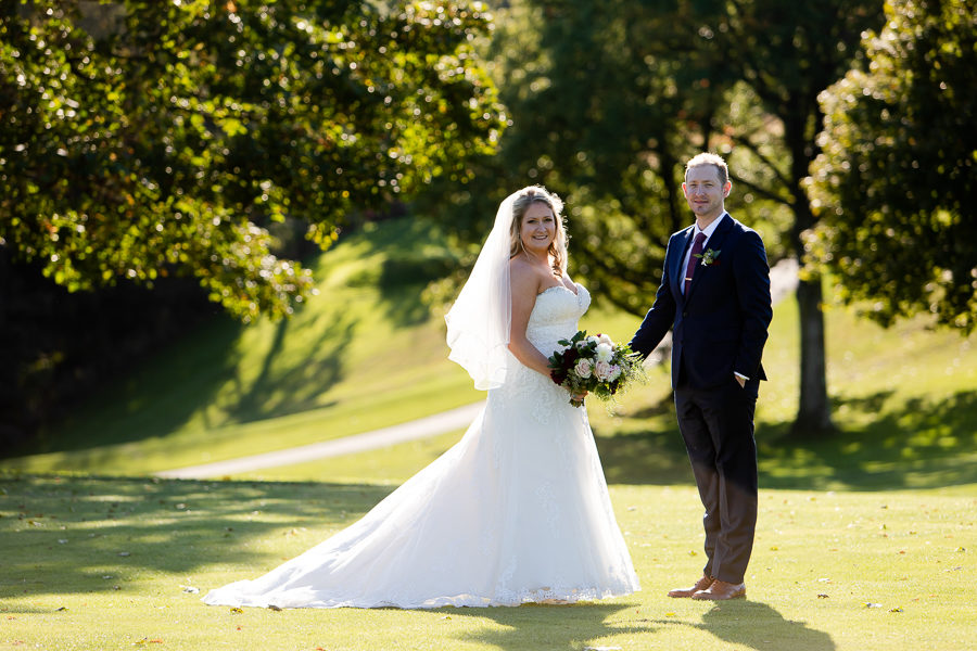Bride and Groom at Shannopin Country Club
