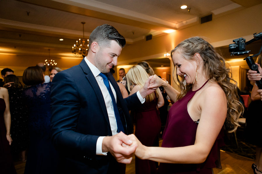 Maid of Honor Dancing at Shannopin Country Club Wedding