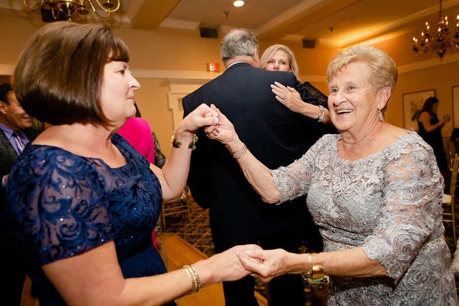 Mother of the Bride and Grandmother Dancing at Shannopin Country Club