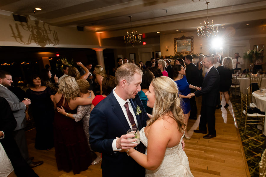 Bride and Groom Dancing at Shannopin Country Club
