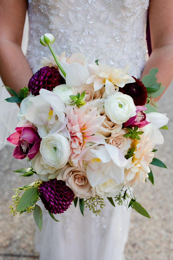 Beautiful Fall Bridal Bouquet by the Blooming Dahlia
