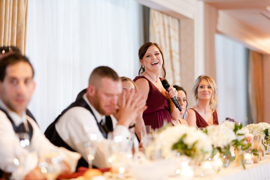 Maid of Honor Speech at Reception