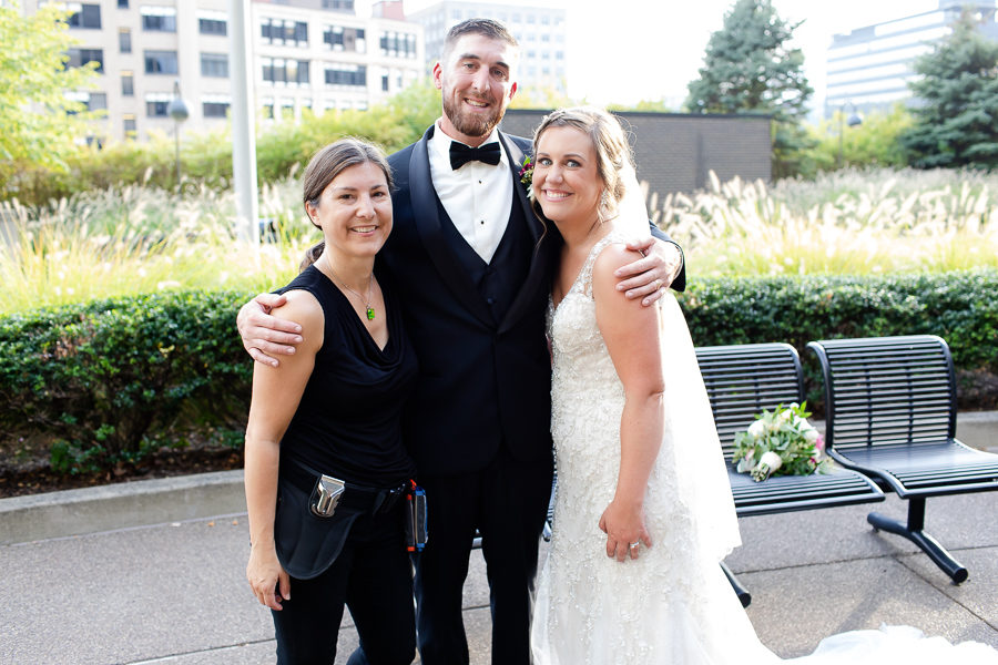 Christina Montemurro with Bride and Groom