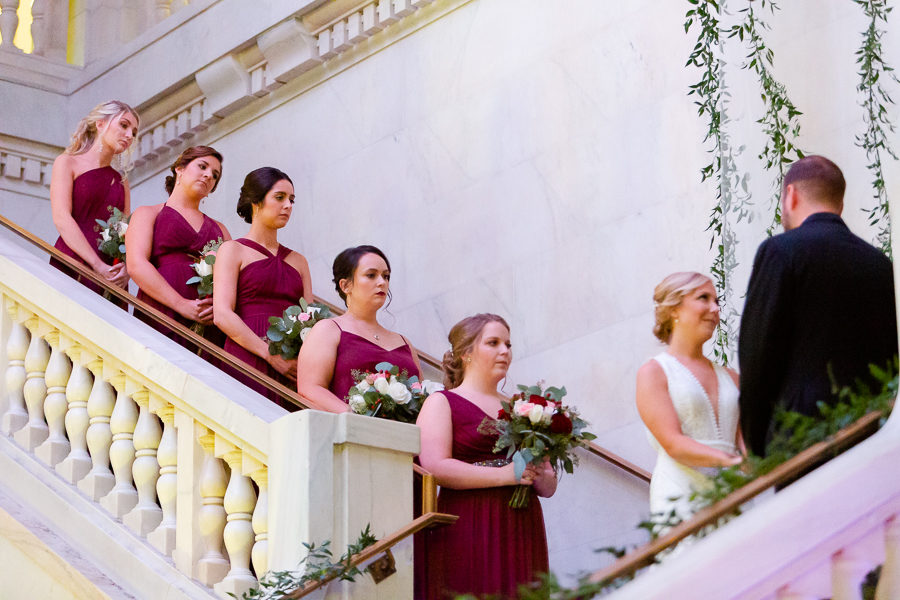 Wedding Ceremony on Renaissance Hotel Pittsburgh Grand Staircase