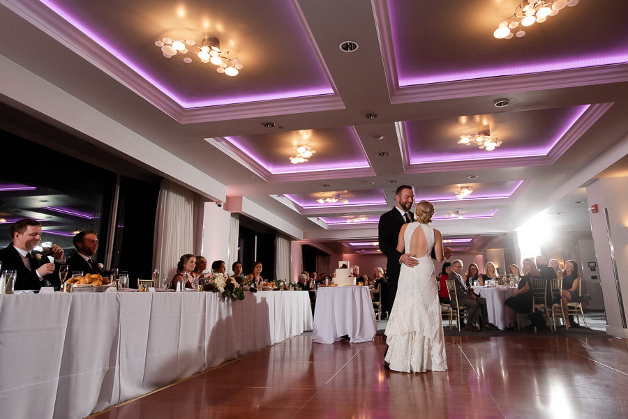 Bride and Groom First Dance at Renaissance Pittsburgh Hotel Wedding
