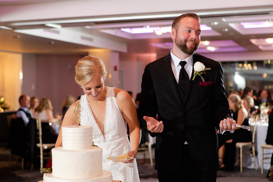 Cake Cutting at Renaissance Pittsburgh Hotel Wedding