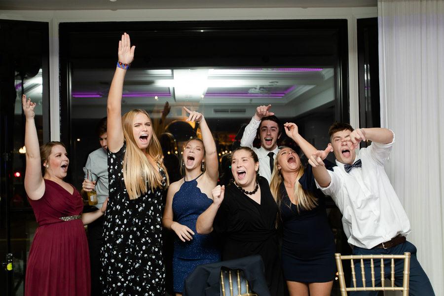 Cousins Singing at Wedding Reception